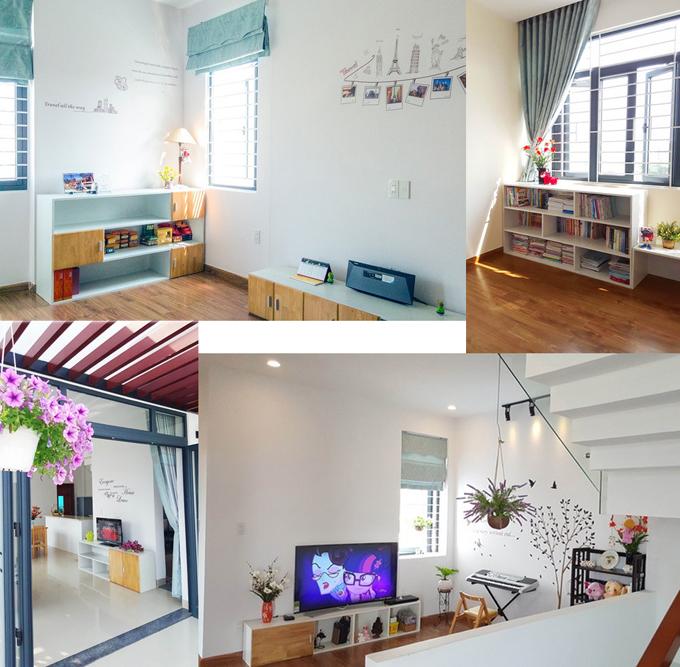 Không gian phòng ngủ mẫu nhà biệt thự đẹp mini 90m2 dành cho 6 người