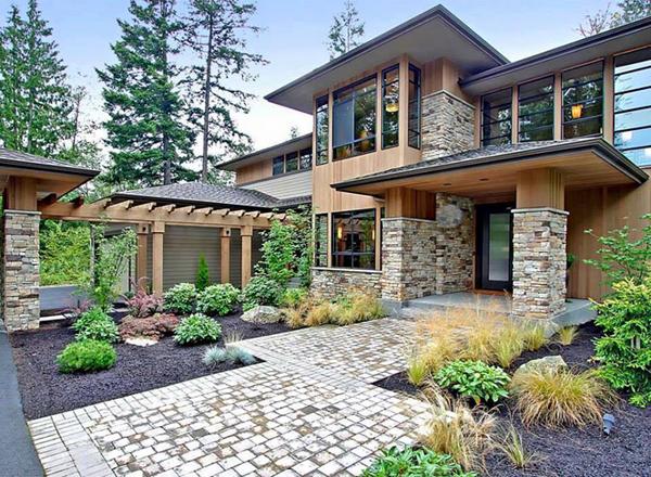Mẫu nhà đẹp biệt thự vườn xanh ngát với tiểu cảnh sân vườn ấn tượng - 01