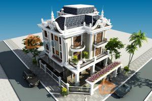 Mẫu thiết kế nhà đẹp phong cách mới - Biệt thự cổ điển Đông Âu
