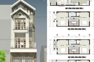 Mẫu thiết kế nhà phố mặt tiền 5m