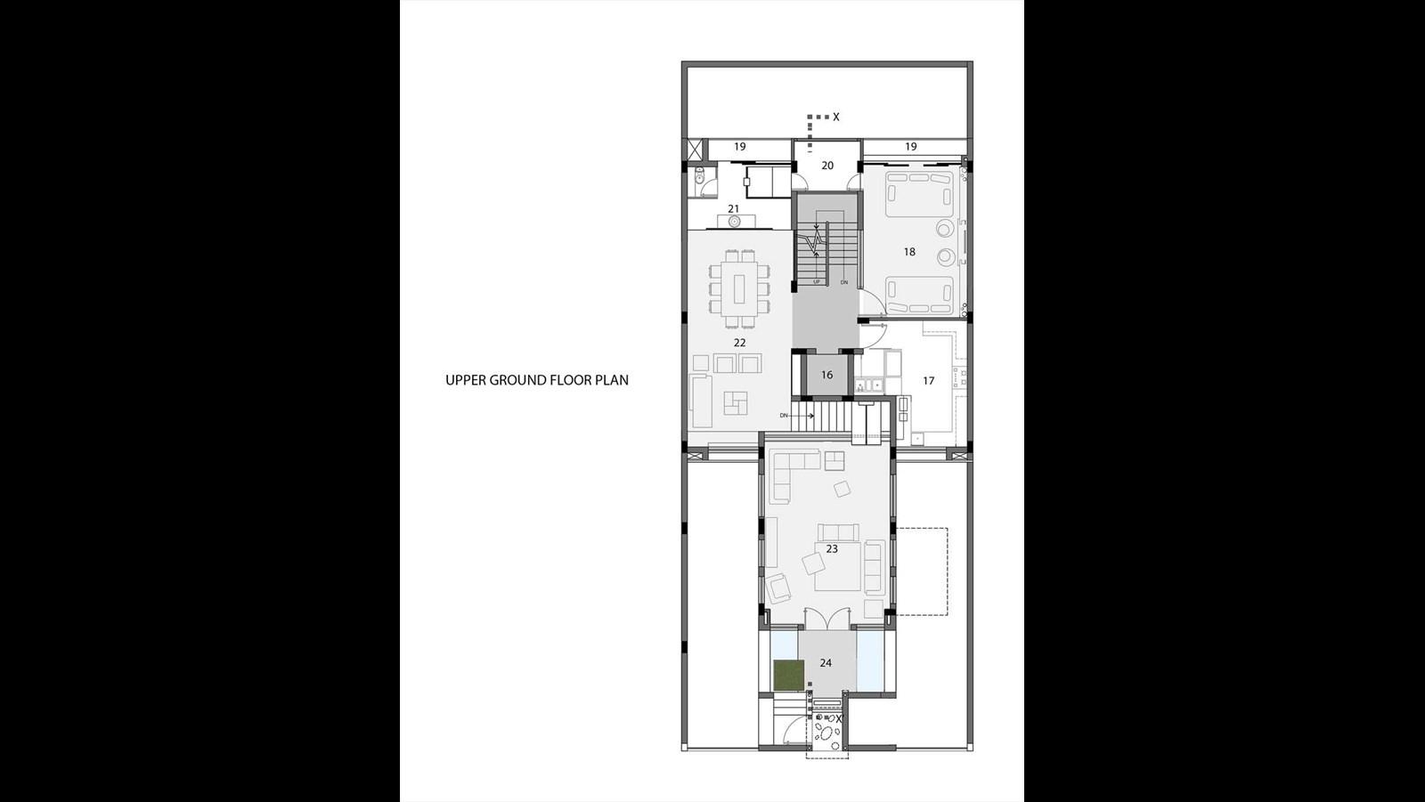 Mẫu nhà biệt thự phố hiện đại ấn tượng với nét đẹp kiến trúc hình khối - 9