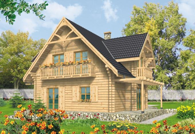 Thiết kế mẫu nhà cấp 4 đẹp 11x13,5m có gác mái mộc mạc - 2