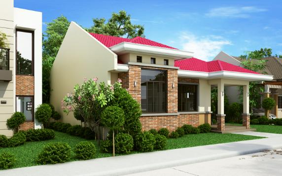 Thiết kế mẫu nhà cấp 4 đẹp 3 phòng ngủ diện tích 11x12m - 01