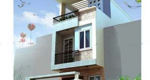 Thiết kế mẫu nhà ống đẹp 3 tầng rộng 4x15m 3 phòng ngủ kiểu hiện đại - Phối cảnh