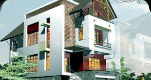 Phối cảnh chính - Mẫu thiết kế biệt thự đẹp hiện đại 3 tầng 115m2 đáng chú ý