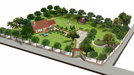 Mẫu thiết kế sân vườn tiểu cảnh nhà biệt thự đẹp đáng sống 1