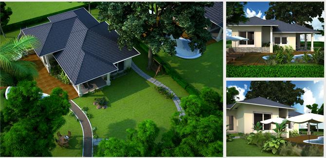 Mẫu thiết kế sân vườn tiểu cảnh nhà biệt thự đẹp đáng sống 2