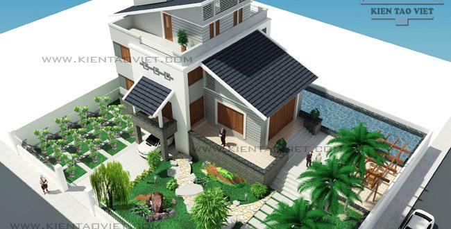 Mẫu thiết kế sân vườn tiểu cảnh nhà biệt thự đẹp đáng sống 3
