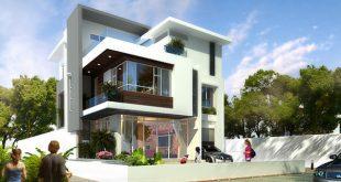 Thiết kế nhà biệt thự đẹp 3 tầng rộng 300m2 hiện đại cao cấp với các không gian tiện nghi