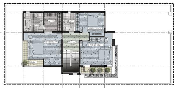 Thiết kế nhà biệt thự đẹp 3 tầng rộng 300m2 hiện đại cao cấp với các không gian tiện nghi - mb2