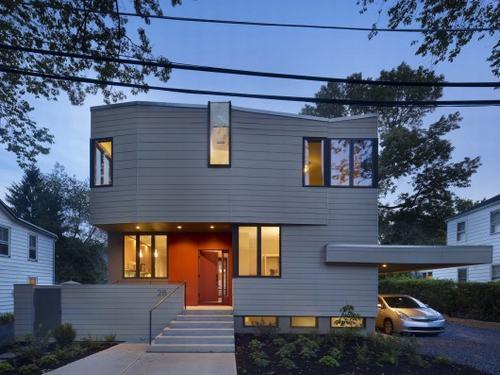 Hình ảnh mặt hướng chính - Thiết kế nhà đẹp biệt thự lắp ghép thông minh cao 2 tầng