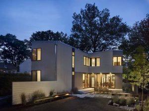 Hình ảnh mặt phía sau - Thiết kế nhà đẹp biệt thự lắp ghép thông minh cao 2 tầng