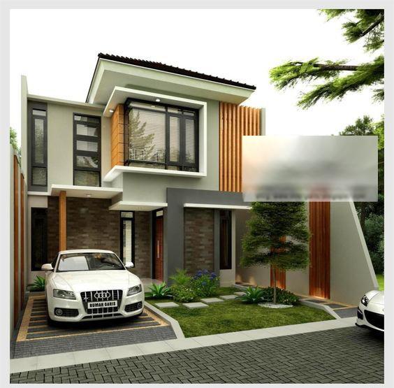 Mẫu thiết kế nhà biệt thự phố 2 tầng hiện đại 8x19m - 1