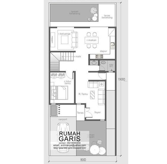 Mẫu thiết kế nhà biệt thự phố 2 tầng hiện đại 8x19m - 2