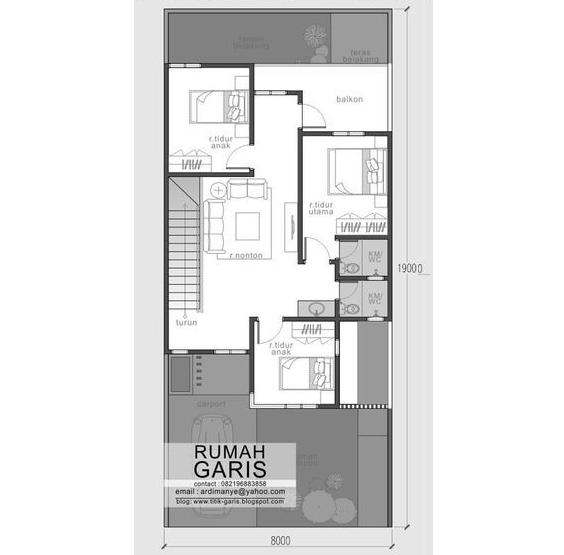 Mẫu thiết kế nhà biệt thự phố 2 tầng hiện đại 8x19m - 3