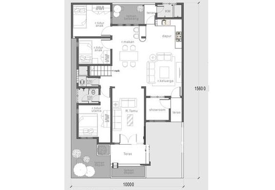Nhà cấp 4 đẹp hiện đại có tầng lửng 10x15m-02