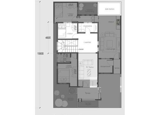 Nhà cấp 4 đẹp hiện đại có tầng lửng 10x15m-03