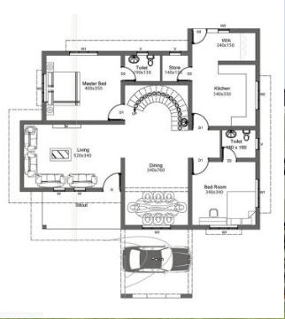 Biệt thự đẹp 2 tầng hiện đại có hình dáng mái lạ mắt và chi phí thấp-02