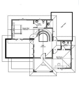Biệt thự đẹp 2 tầng hiện đại có hình dáng mái lạ mắt và chi phí thấp-03