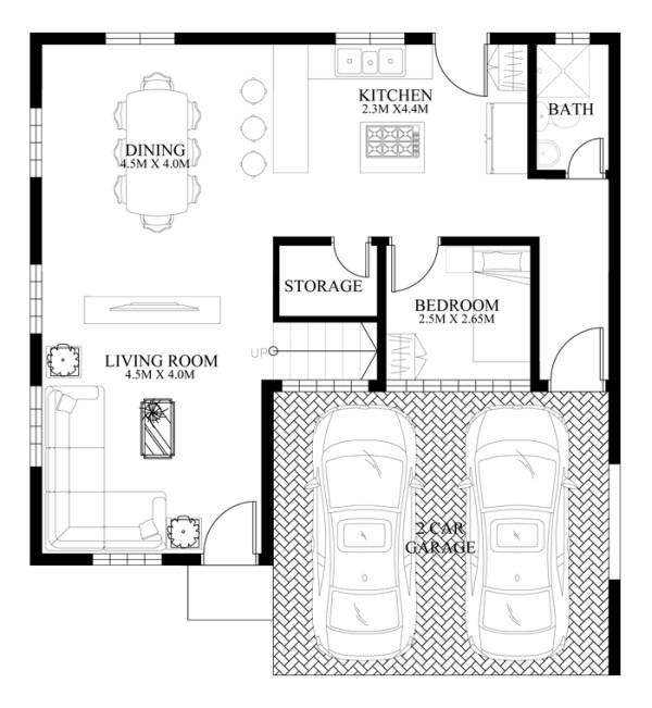Thiết kế biệt thự đẹp 2 tầng phong cách cổ điển mới lạ-03