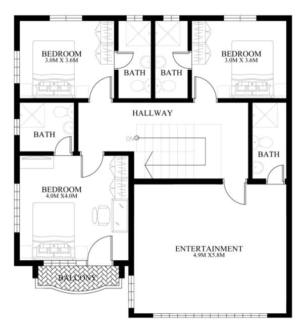Thiết kế biệt thự đẹp 2 tầng phong cách cổ điển mới lạ-04