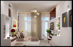 Phòng ngủ master mẫu nhà cấp 4 đẹp phong cách sinh thái