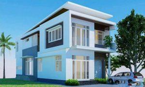 Nhà biệt thự 2 tầng đẹp hiện đại nhẹ nhàng giản dị - 1