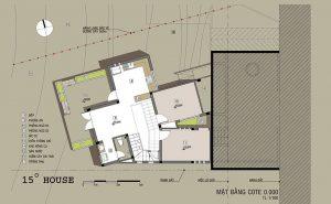 Công năng tầng 1 thiết kế nhà phố đẹp 2 tầng lạ mắt phong cách hiện đại