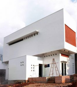 Phối cảnh thiết kế nhà phố đẹp 2 tầng lạ mắt phong cách hiện đại