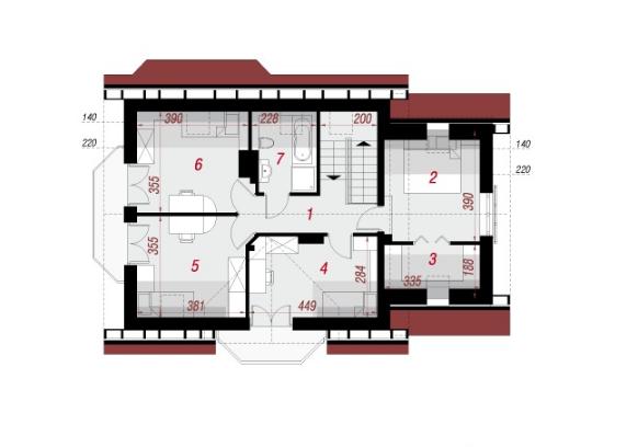 Mẫu nhà đẹp cấp 4 có tầng lửng 110m2-05