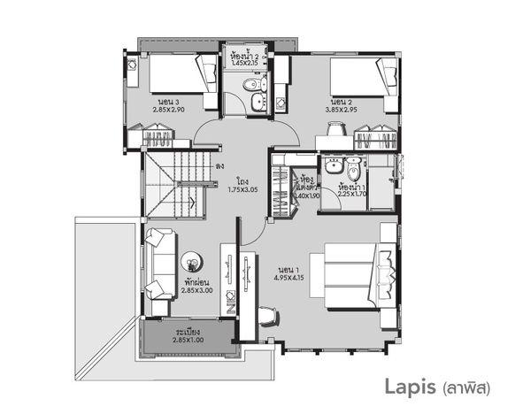 Mẫu biệt thự 2 tầng kết hợp sân vườn ấn tượng-03