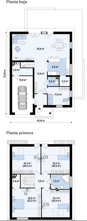 Nhà cấp 4 hiện đại 4 phòng ngủ, diện tích 10x13m-02