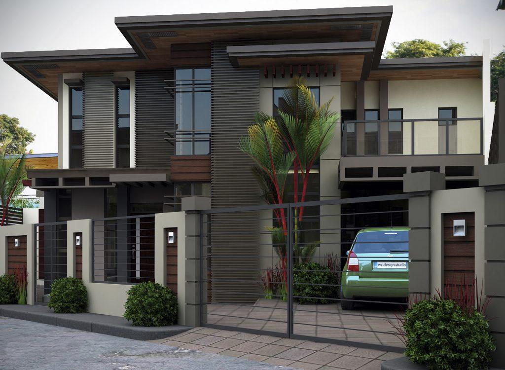 Thiết kế biệt thự 2 tầng tông màu trầm sang trọng-02
