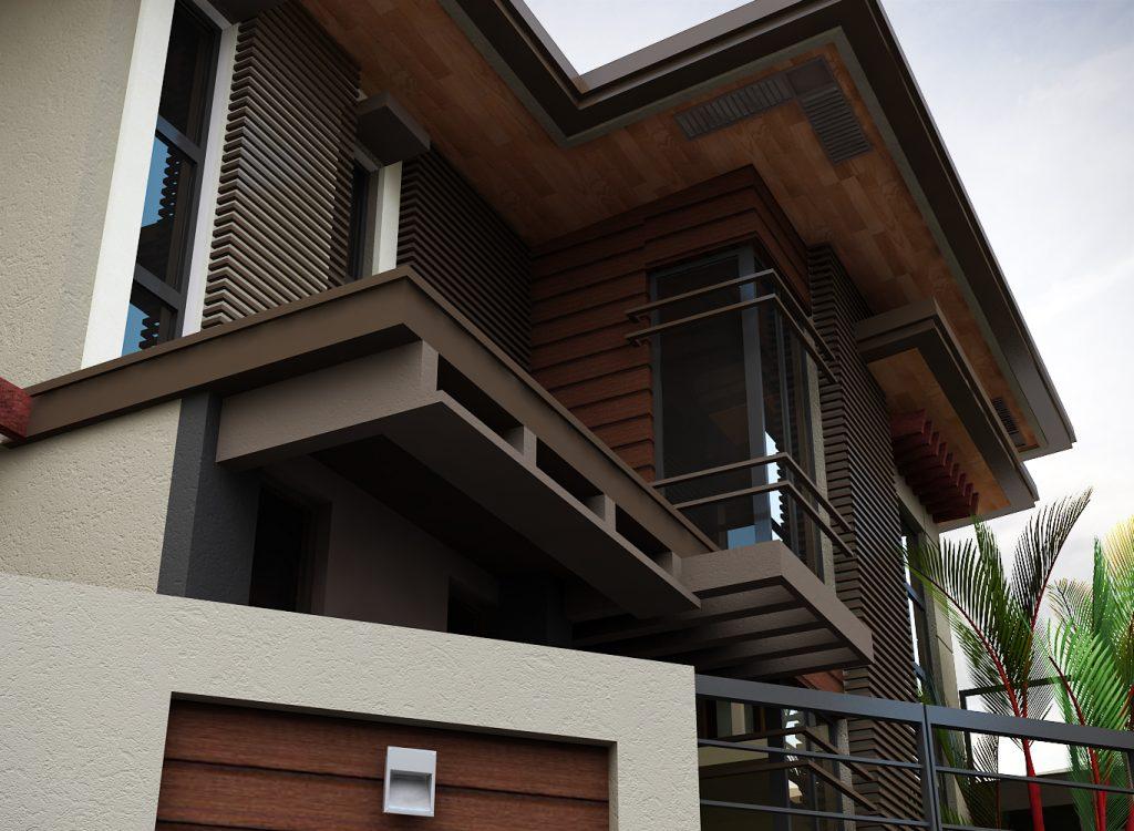 Thiết kế biệt thự 2 tầng tông màu trầm sang trọng-03