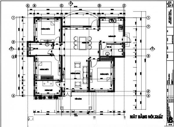 Thiết kế kiến trúc nhà vườn đẹp 1 tầng 12x13m- Mặt bằng tổng thể