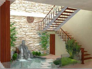 Thiết kế sân vườn tiểu cảnh đẹp cho nhà ở lô phố