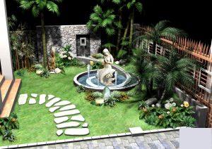 Thiết kế sân vườn tiểu cảnh độc đáo mới lạ 3