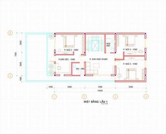 Biệt thự 3 tầng đẹp diện tích 7x19.5m-04