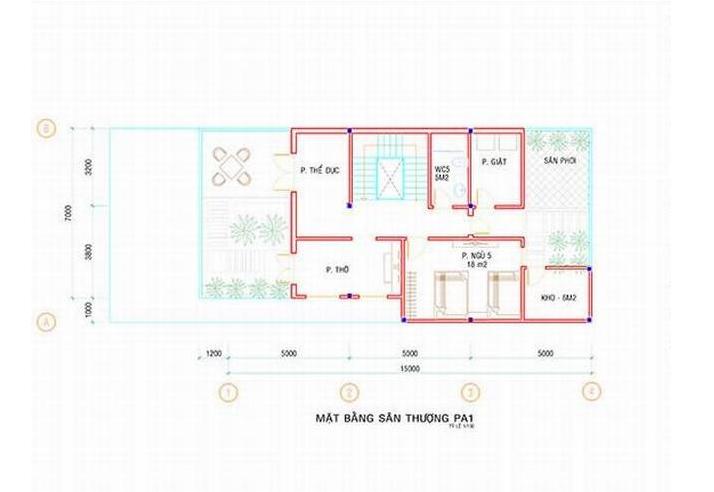 Biệt thự 3 tầng đẹp diện tích 7x19.5m-05