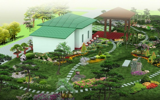 Thiết kế sân vườn tiểu cảnh sao cho bắt mắt 4