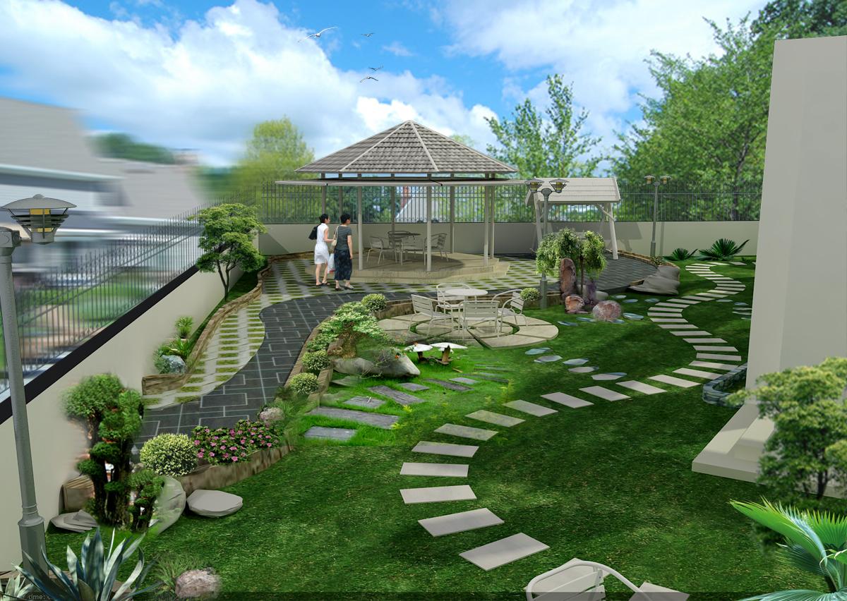 Thiết kế sân vườn tiểu cảnh sao cho bắt mắt 5