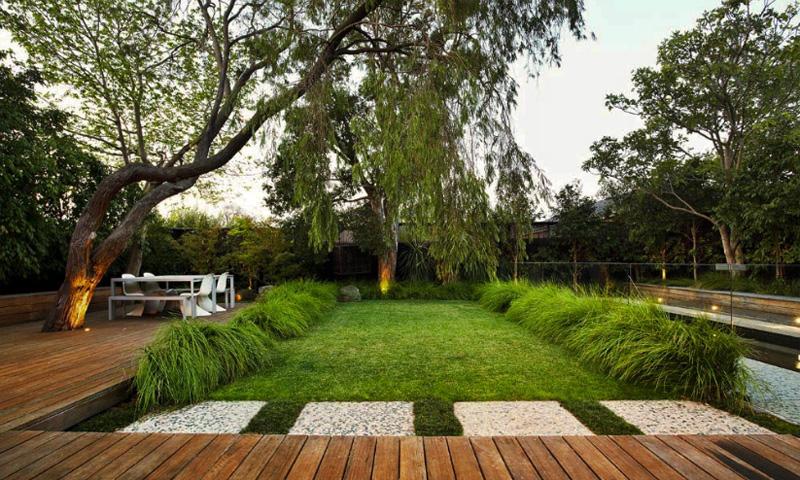 Thiết kế sân vườn tiểu cảnh theo phong cách hiện đại 3