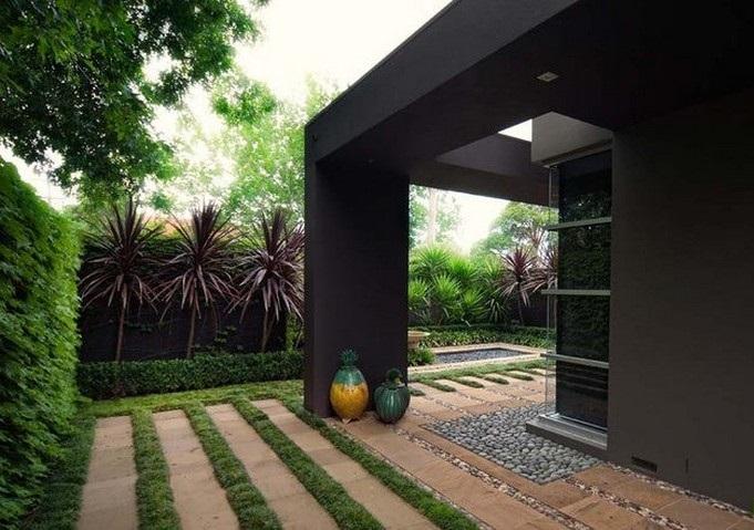 Thiết kế sân vườn tiểu cảnh theo phong cách hiện đại 4
