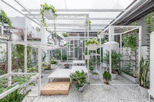 Mẫu vườn sân thượng với không gian thư giãn xanh mát.03