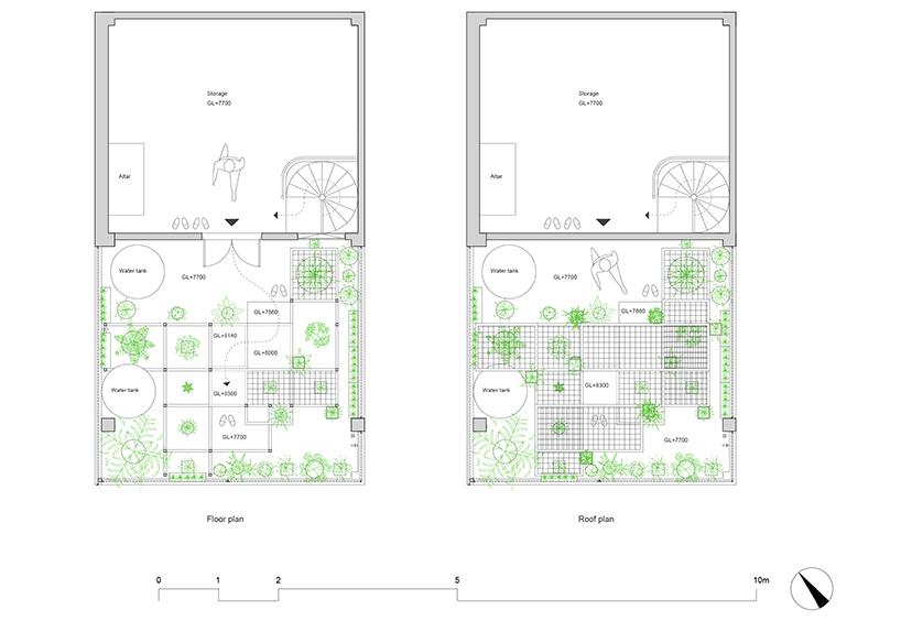 Mẫu vườn sân thượng với không gian thư giãn xanh mát