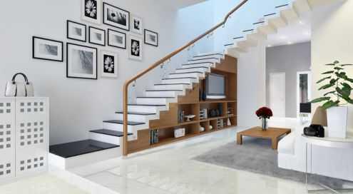 Những mẫu cầu thang đẹp cho nhà ống.03
