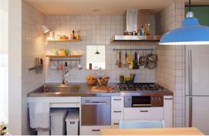 Thiết kế bếp đẹp hiện đại cho nhà ống nhỏ. 4
