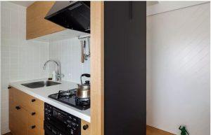 Thiết kế bếp đẹp hiện đại cho nhà ống nhỏ. 6