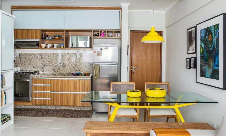 Thiết kế bếp đẹp hiện đại cho nhà ống nhỏ. 9
