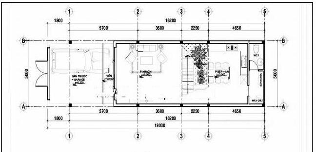 Nhà ống 2 tầng hiện đại 5x16m giá rẻ. 2